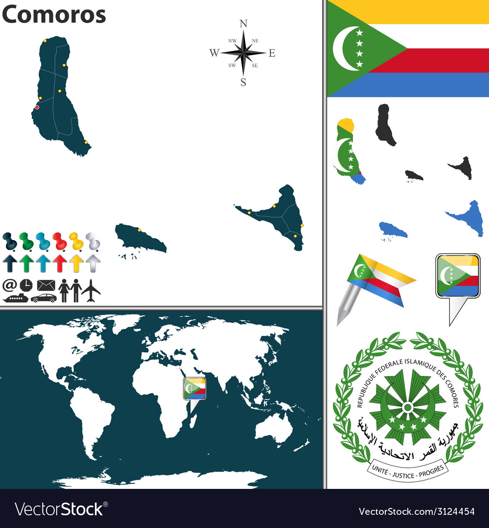 Comoros map world