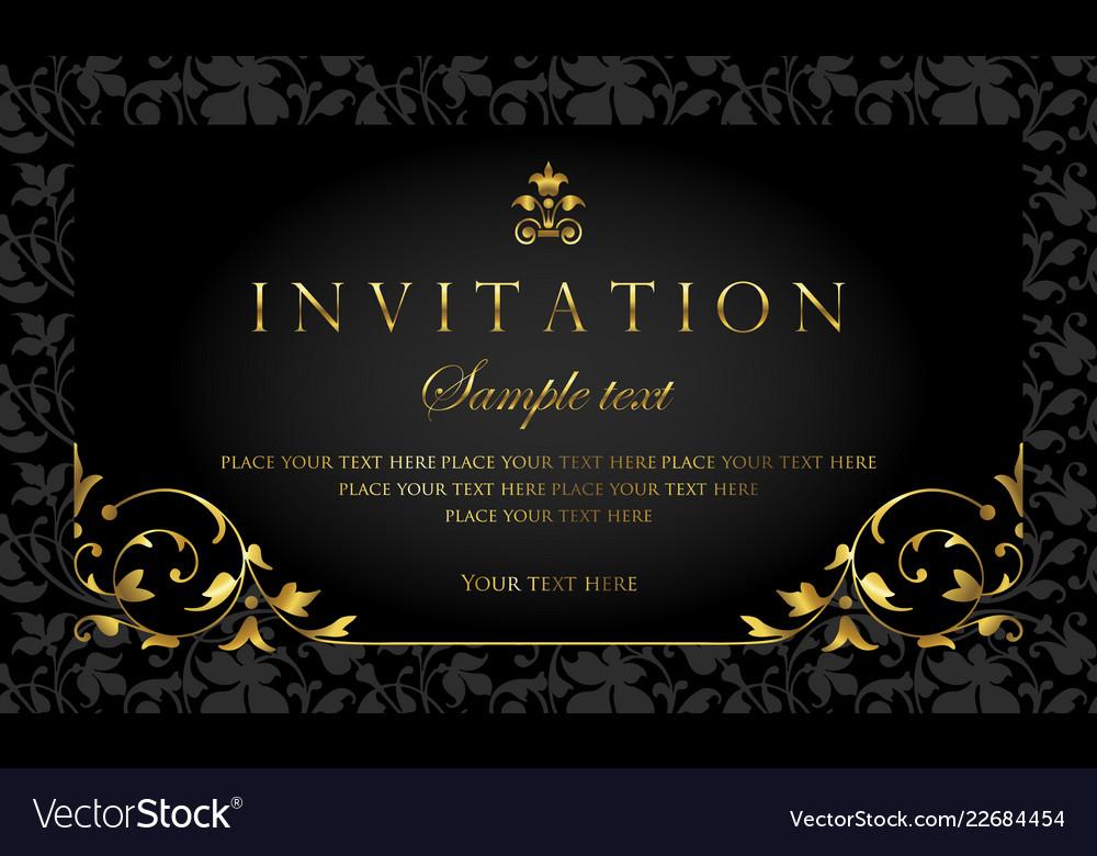 Invitation Card Luxury Design Template