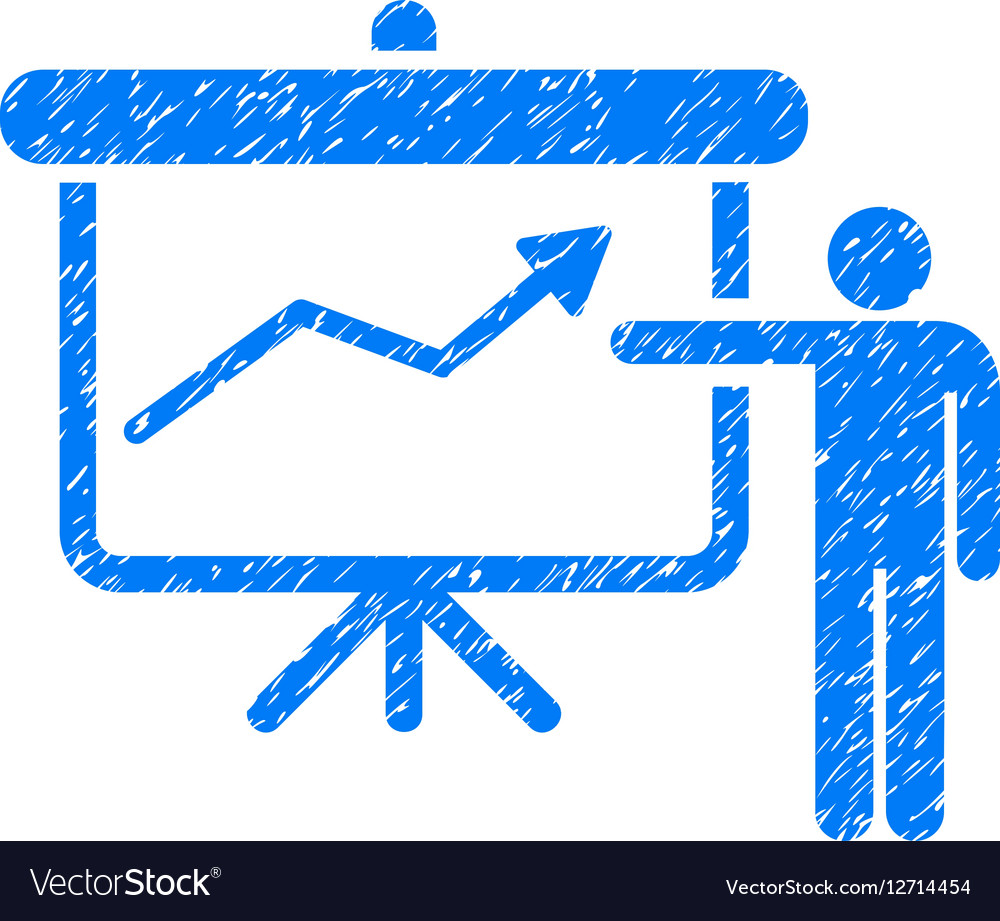 Project Presentation Grainy Texture Icon vector image