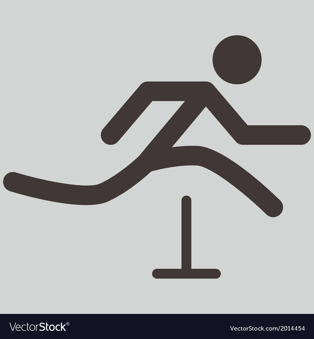 Running hurdles icon vector image