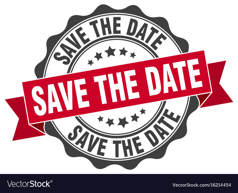 Save the date stamp sign seal vector image