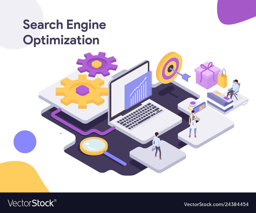 Search engine isometric optimization modern flat
