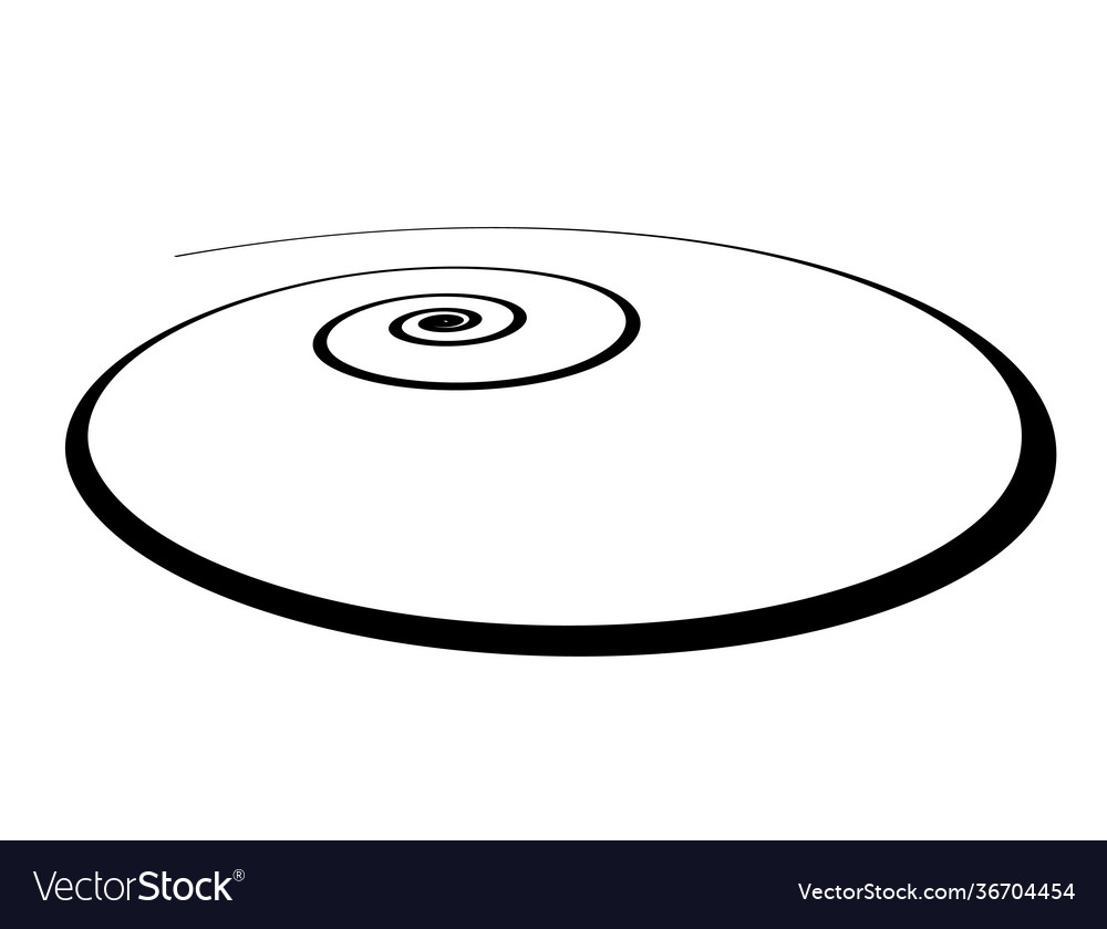Spiral shape in wide perspective