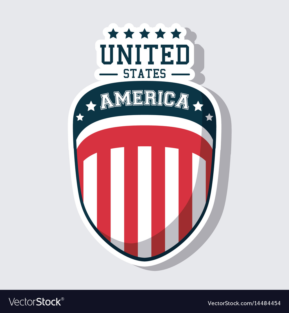 Usa flag united states america shield icon vector image