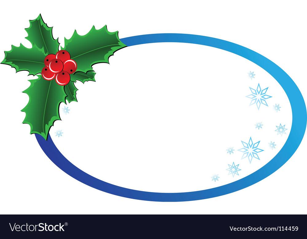 Christmas holly banner