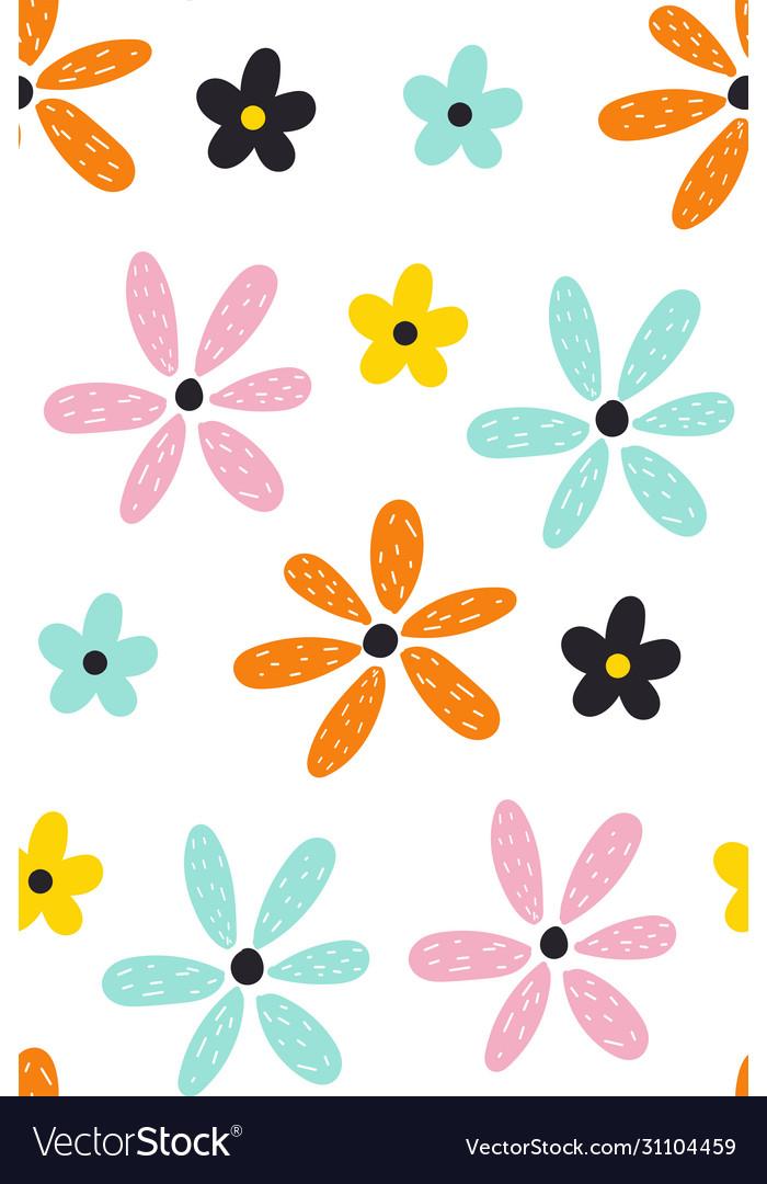 Floral summer pattern scandinavian texture