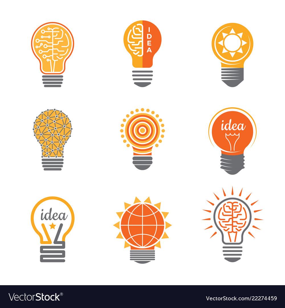 Ideas lamp logo electronics light energy bulb