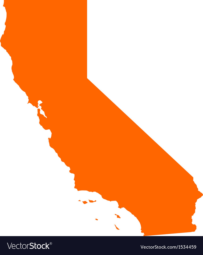 Map of California vector image