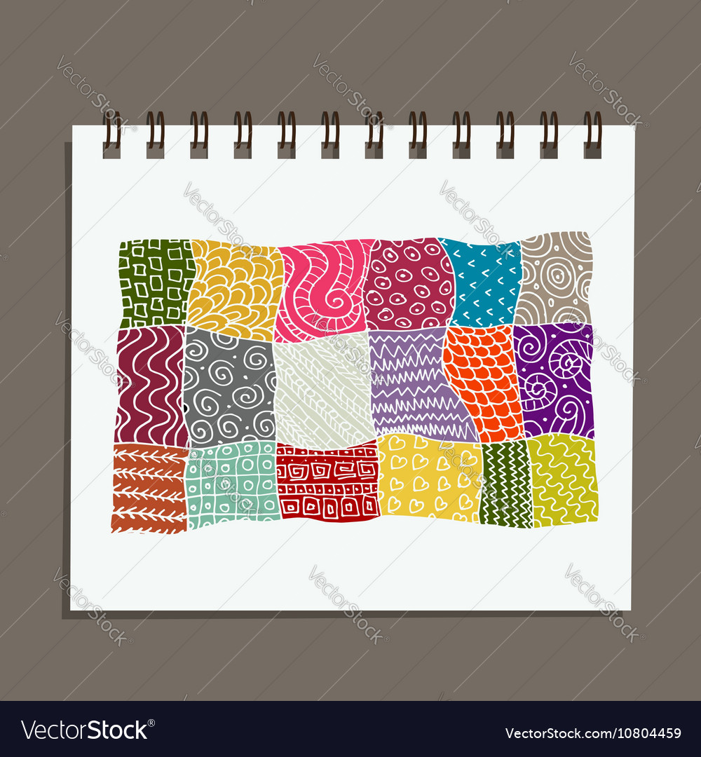Notebook abstract oriental design vector image