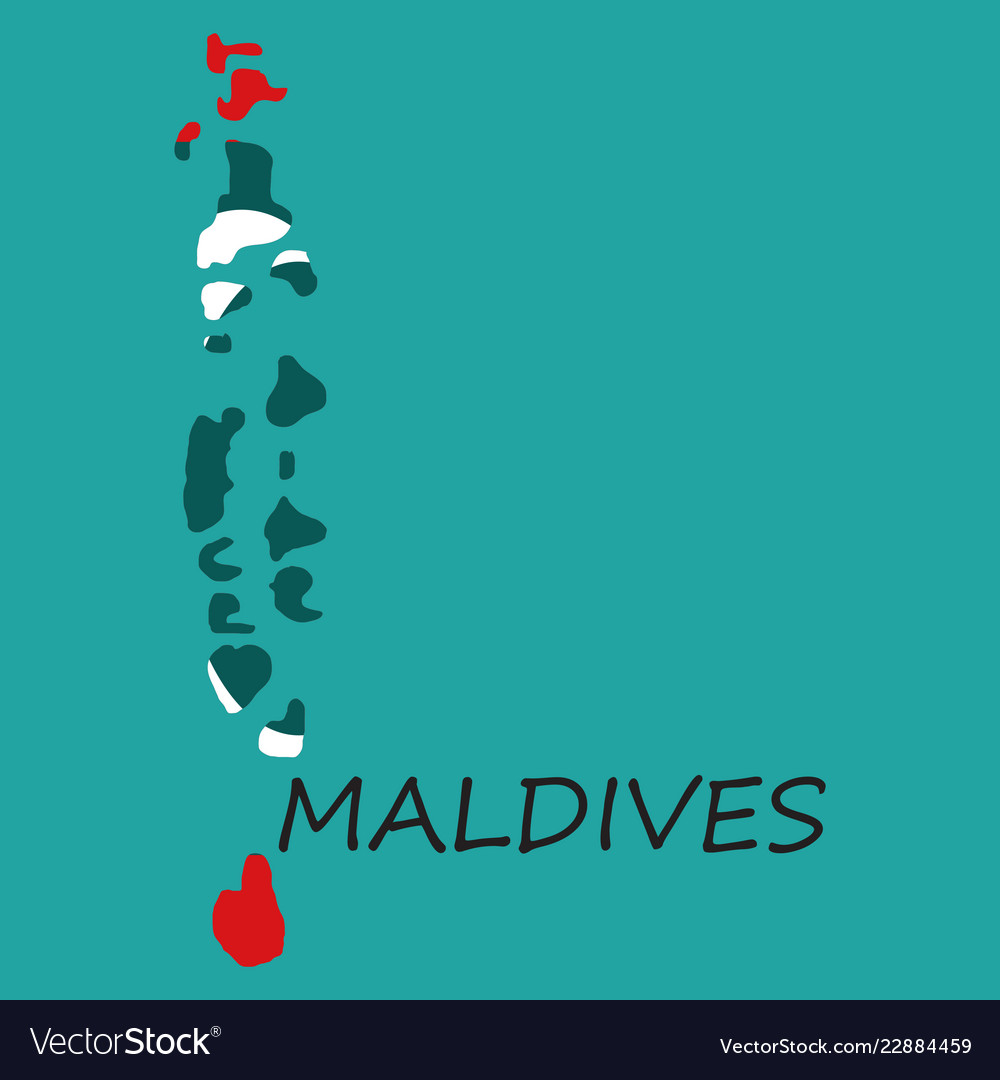 Maldives On A World Map.Republic Of Maldives Flag Asia World Map Vector Image