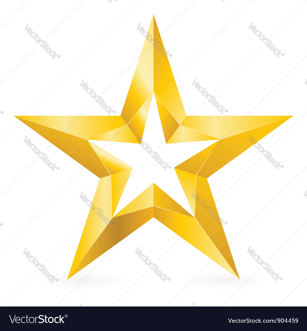 shiny gold star royalty free vector image vectorstock