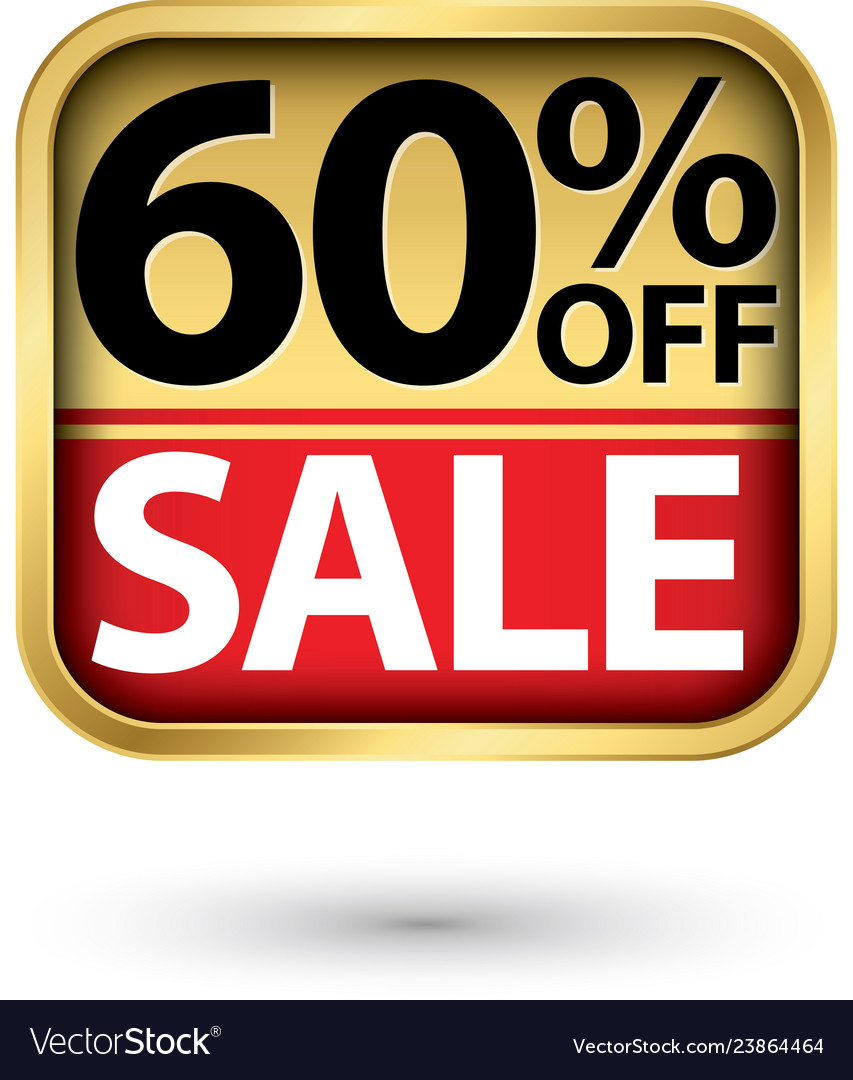 60 off sale golden label with red ribbon