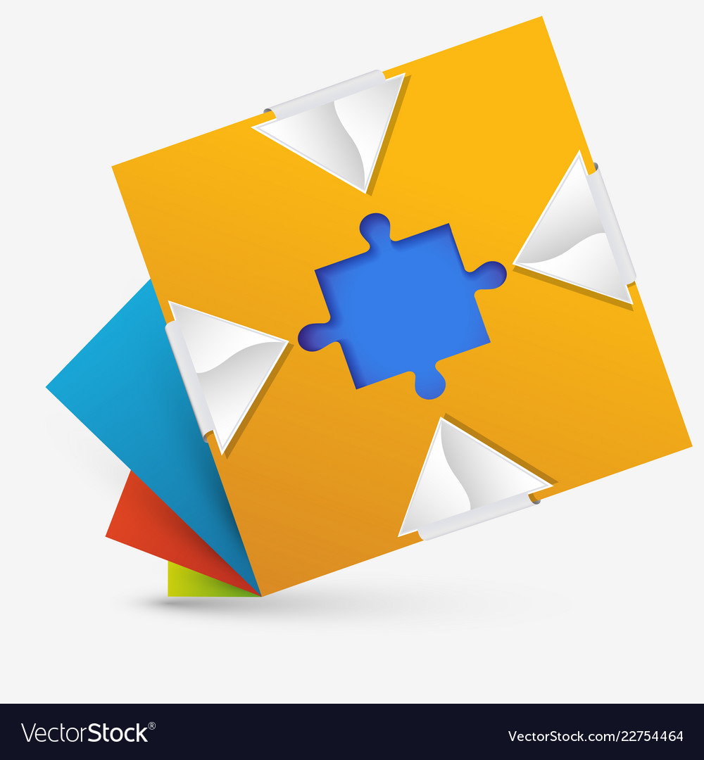Abstract geometric design with a puzzle inside