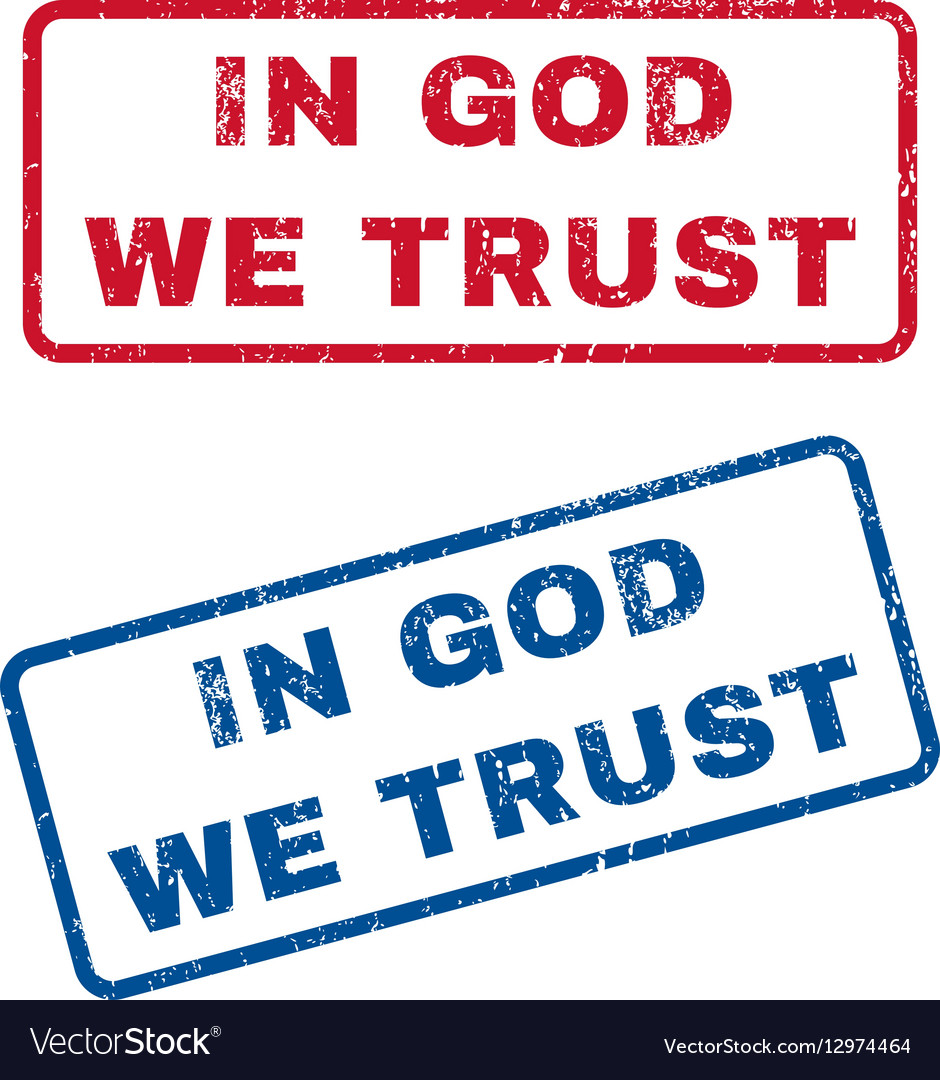 In God We Trust Rubber Stamps vector image