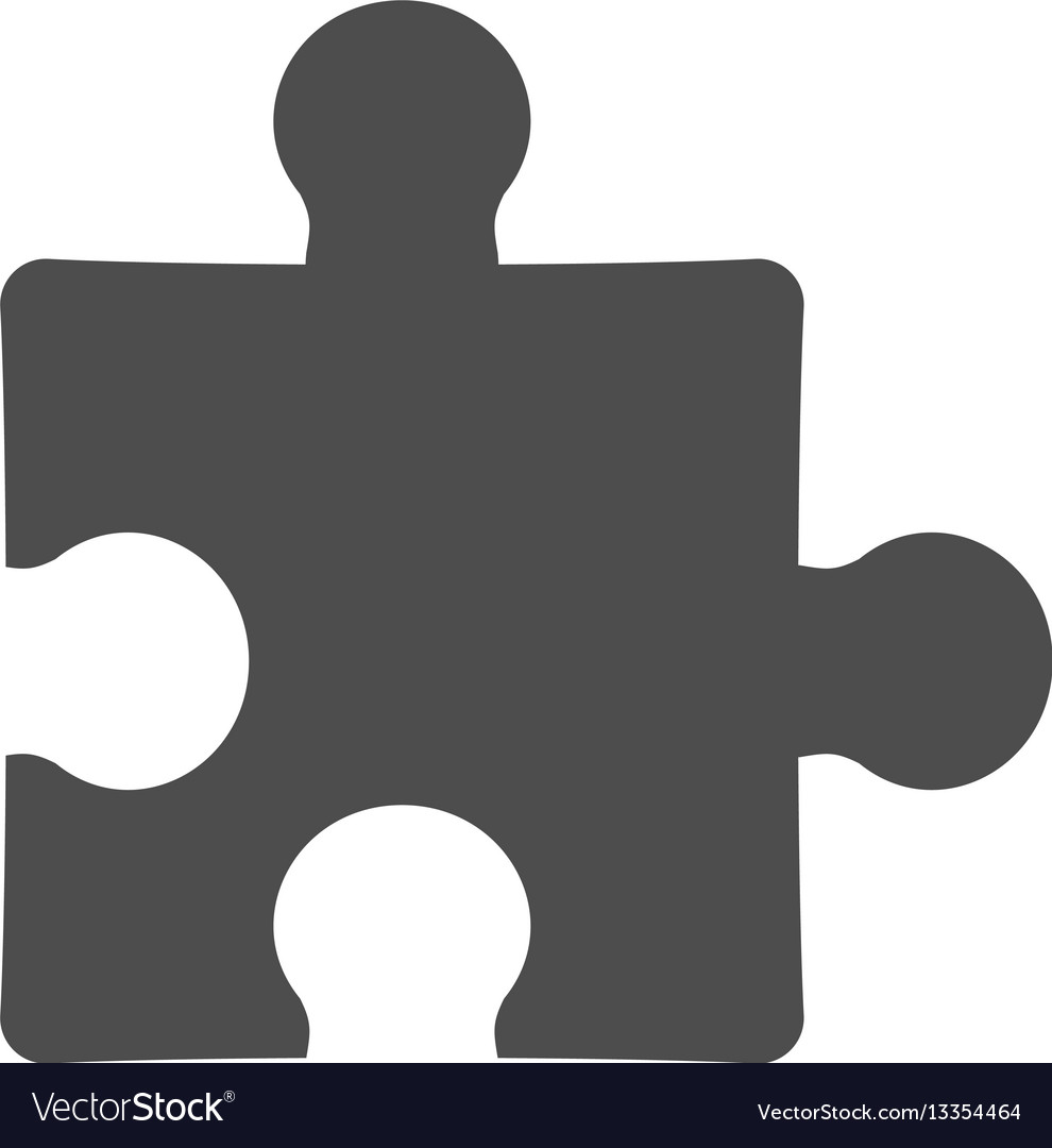 Simple puzzle icon isolated on white background vector image