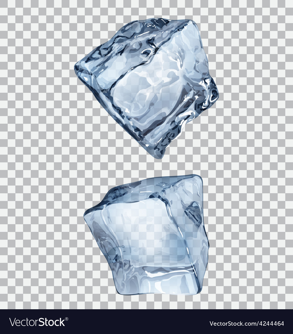 transparent ice cubes royalty free vector image vectorstock