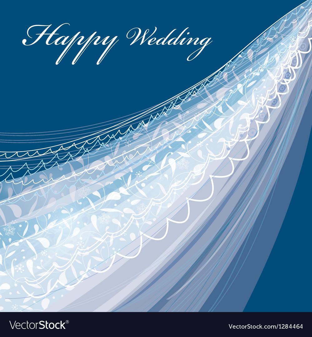 Wedding veil vector image
