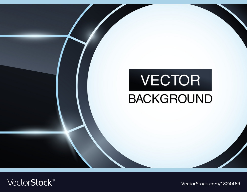 Black glossy abstract background Futuristic vector image