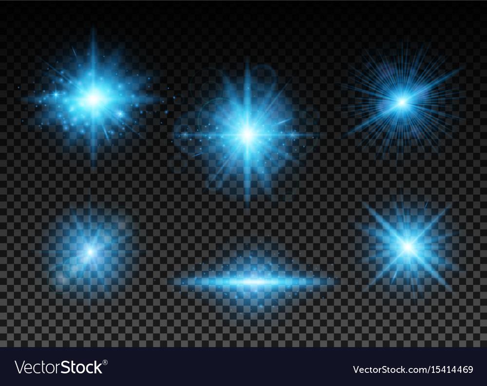 Blue lights set