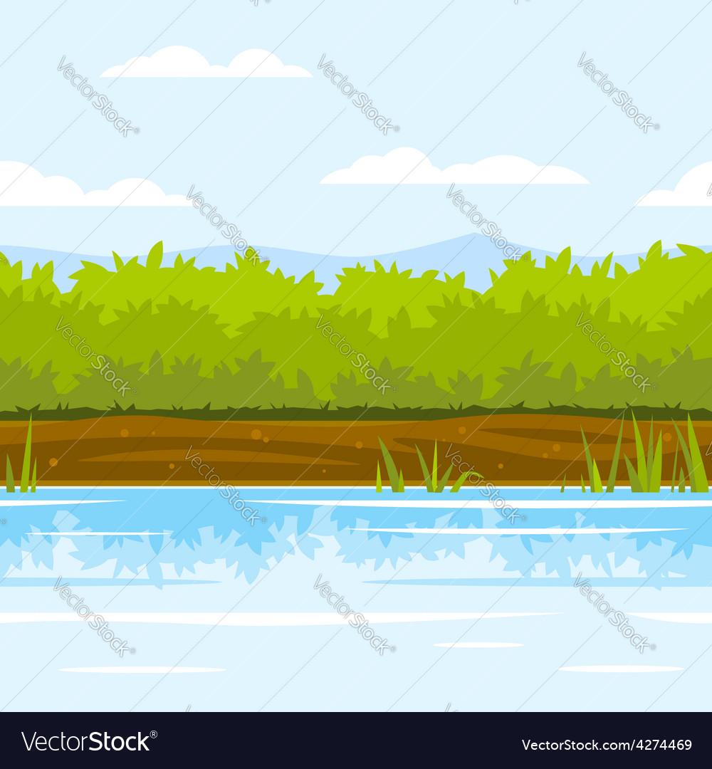 Bushes Game Background vector image