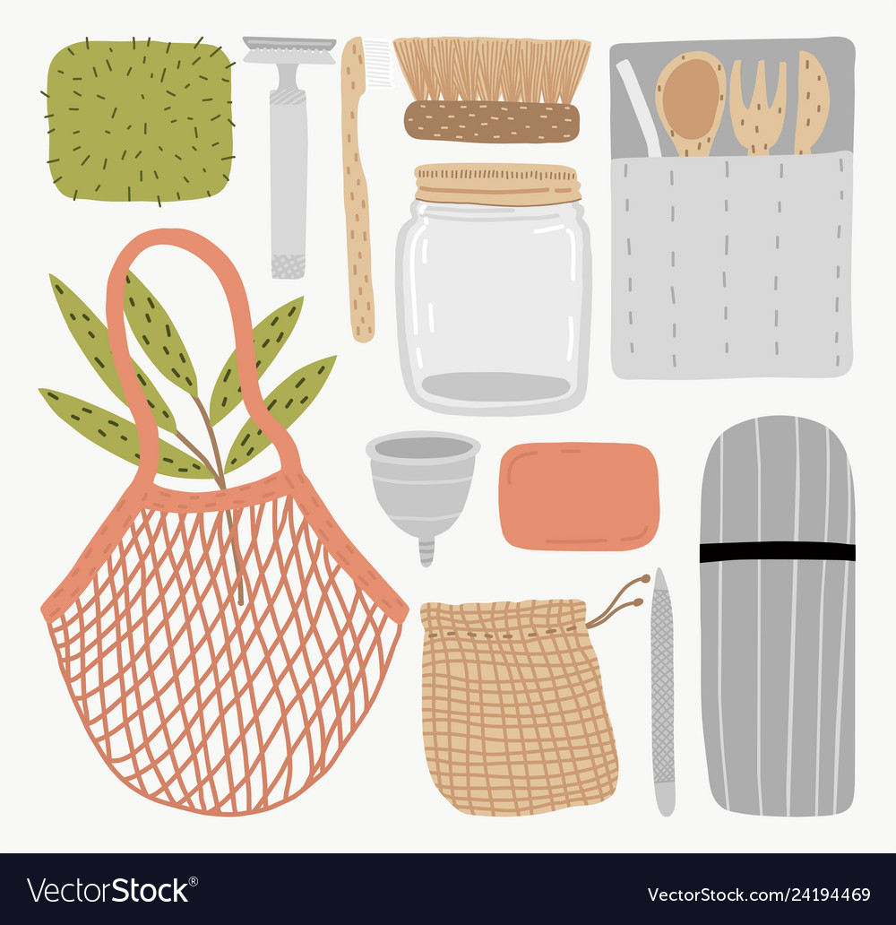 Eco life style without plastic