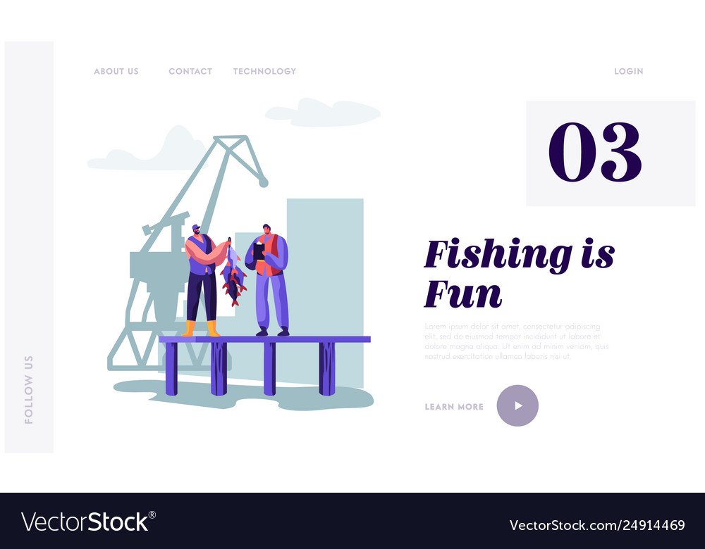 Fisherman demonstrating fish haul to customer