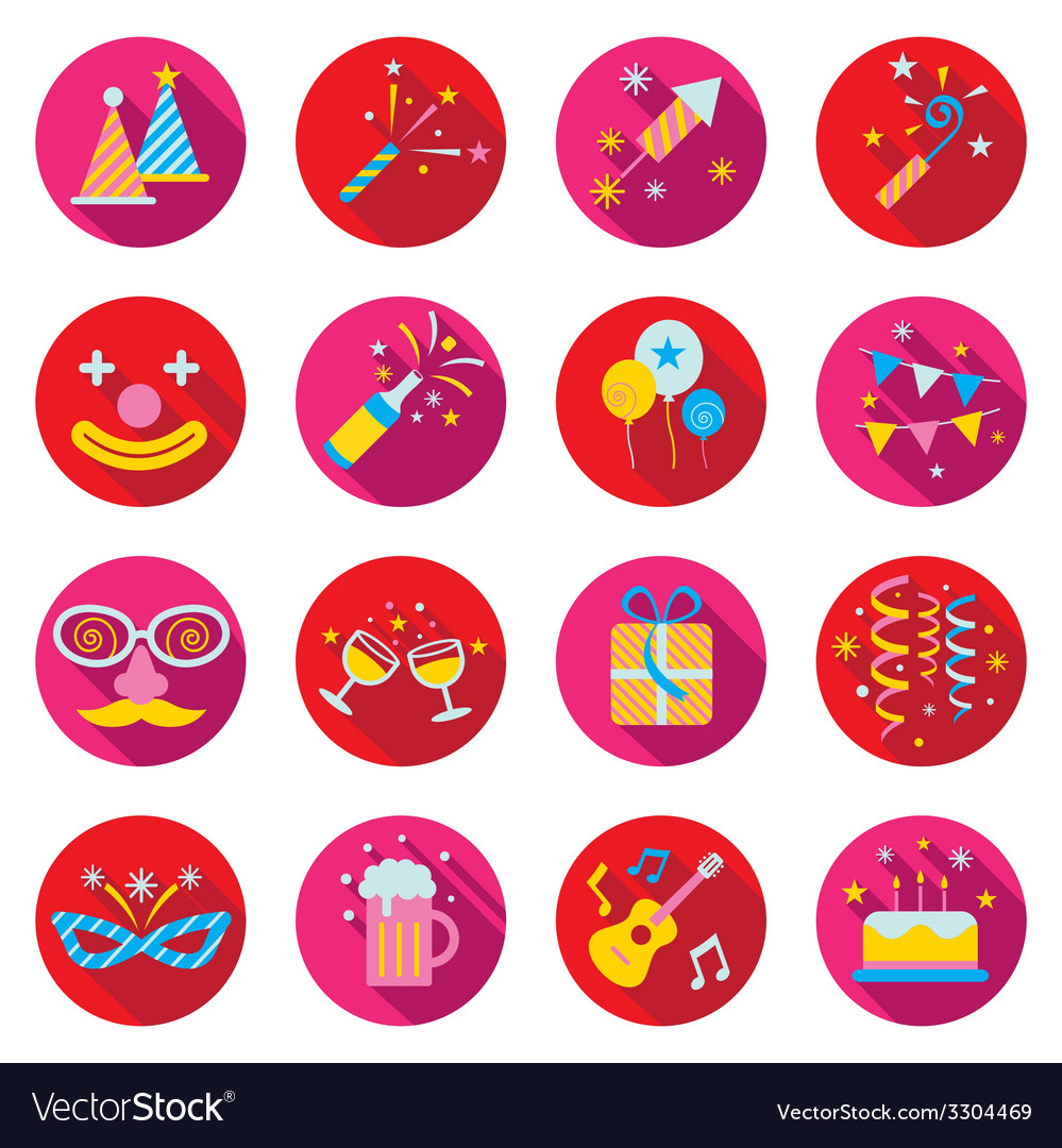Party Objects and Icons Set