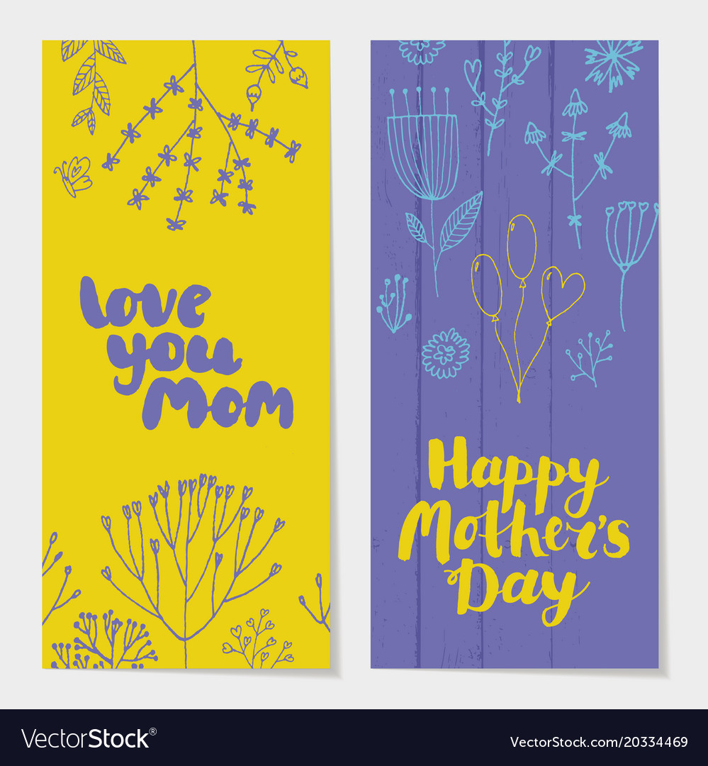 Set of holiday spring vertical cards