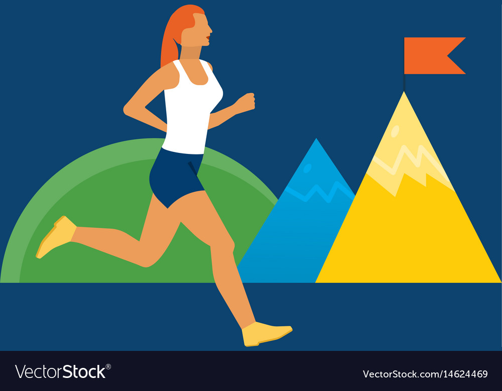 Theme of fitness and an active lifestyle vector image