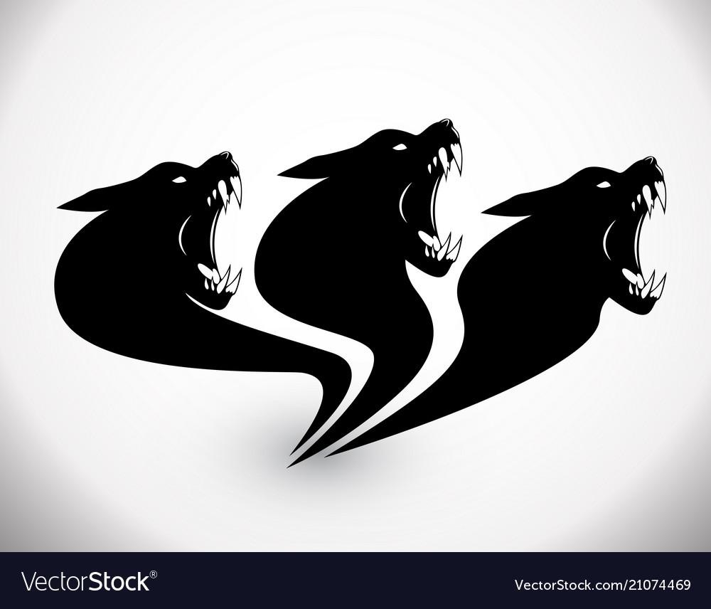 Three heads wolf sign