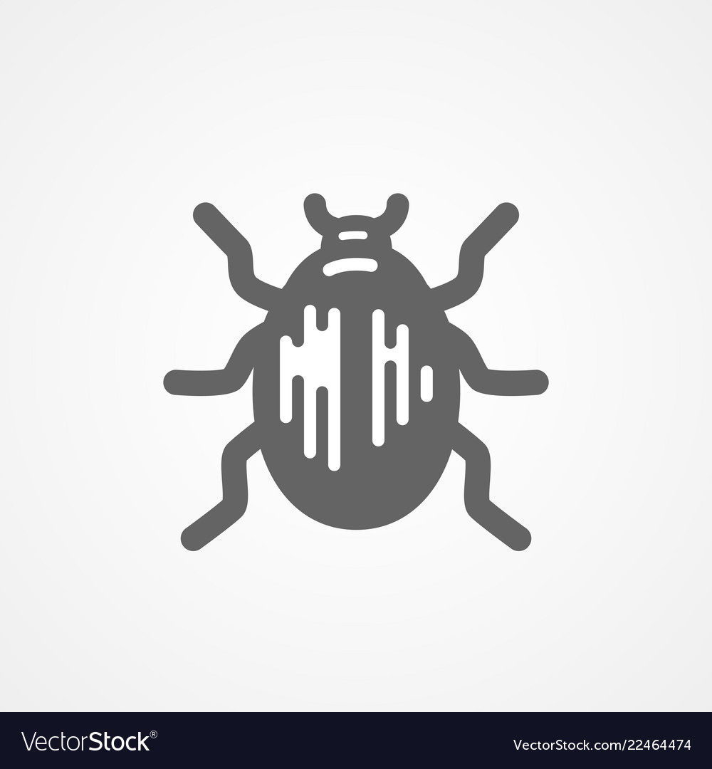 Abstract beetle black and white icon
