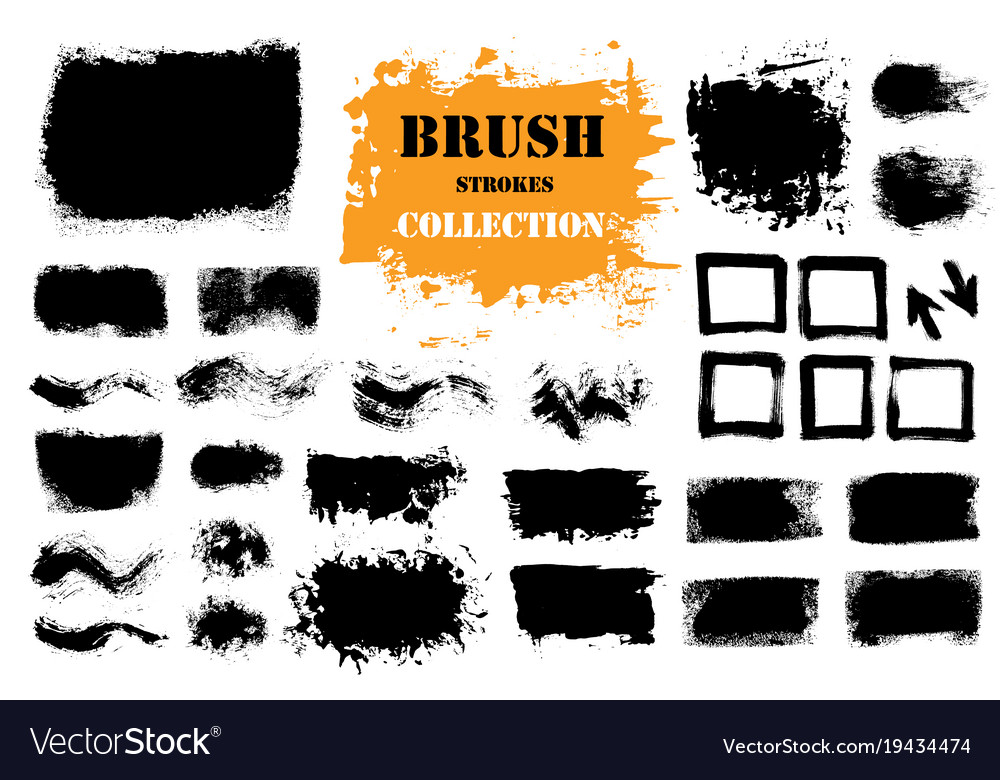 Brush strokes text boxes