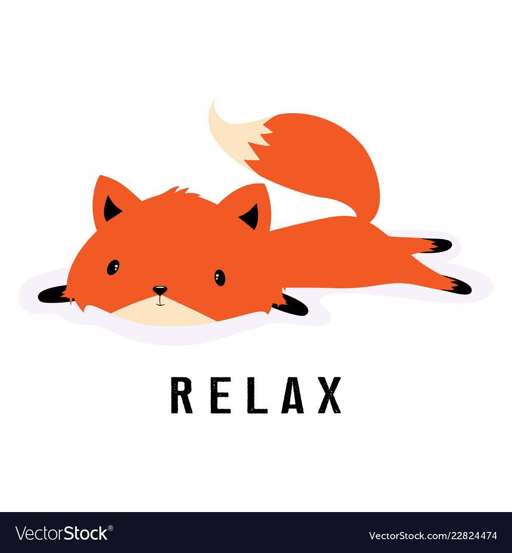 Cartoon fox resting