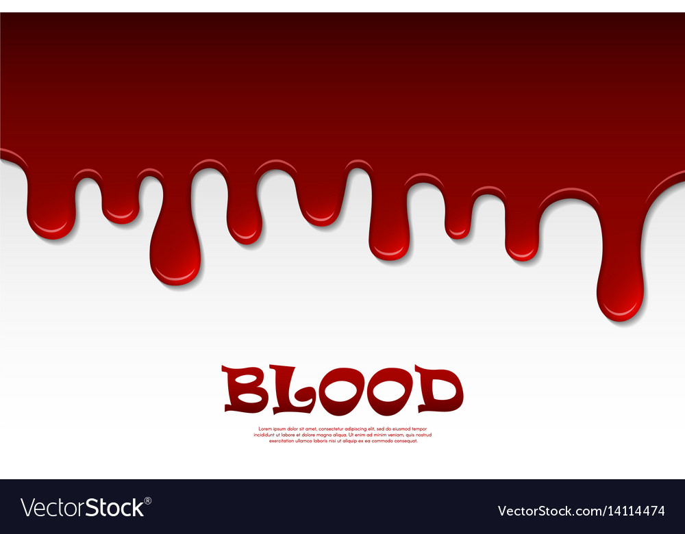Dripping blood abstract flowing red liquid