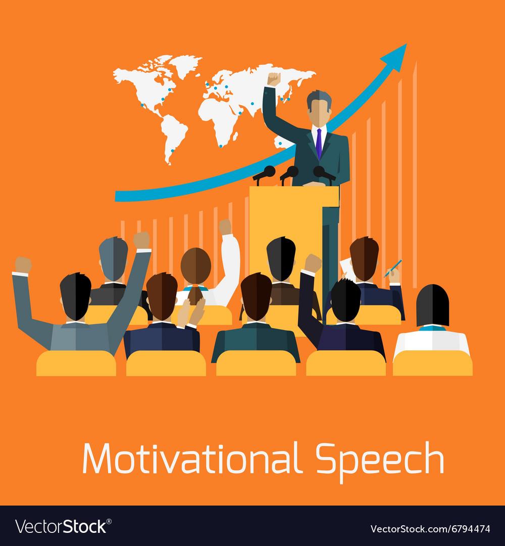 Motivational speech concept design