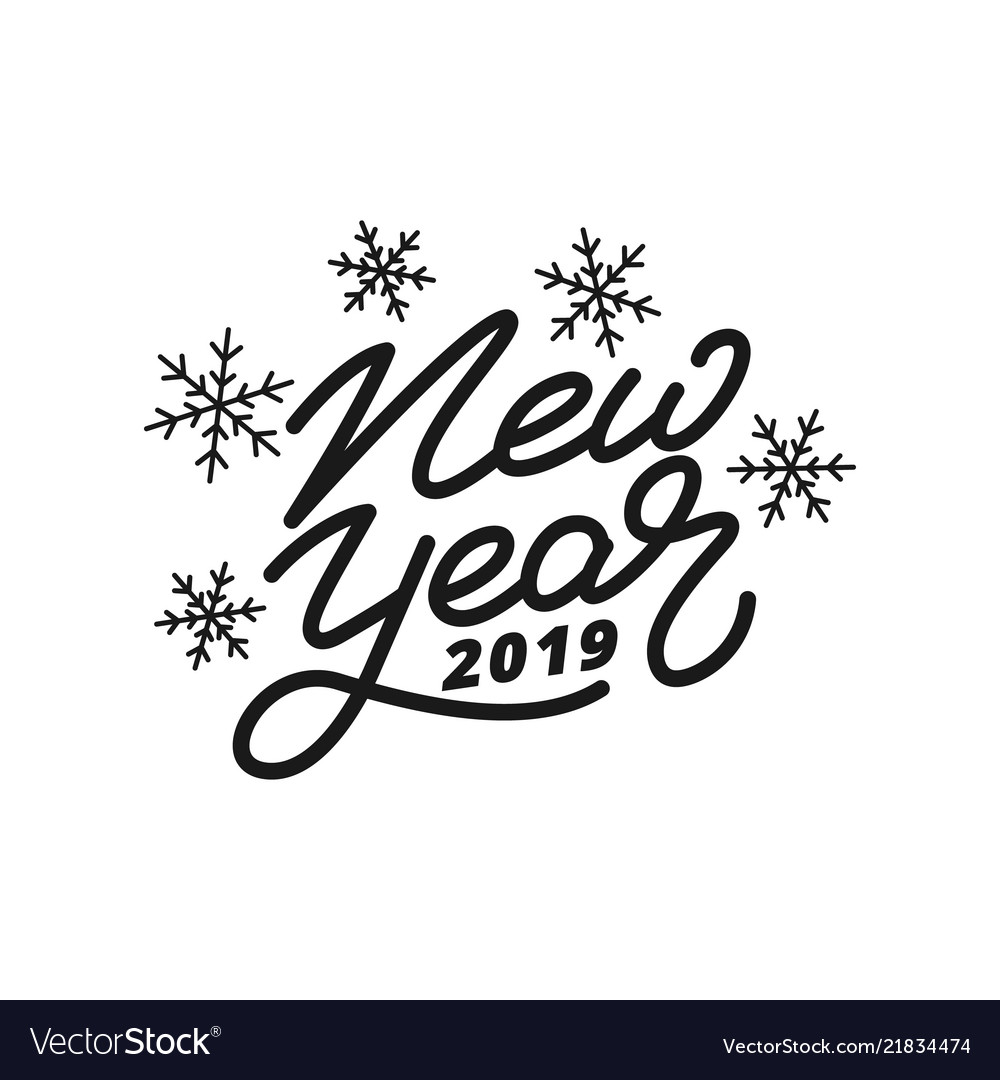 Happy New Year Logo 2019 91