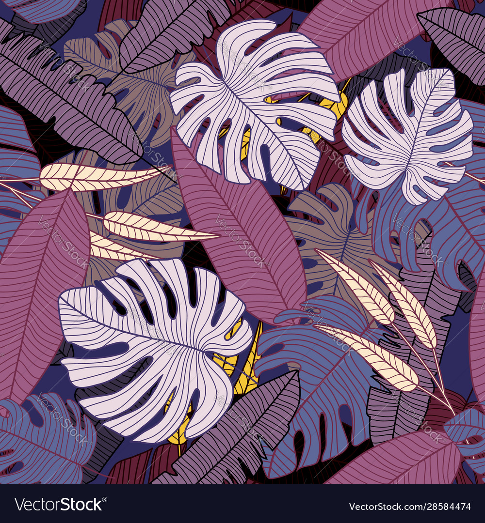 Palm Leaves Wallpaper Creative Tropical Pattern Vector Image Download premium psd of monstera leaf mobile screen wallpaper by hwangmangjoo about neon tropical, neon, neon jungle, tropical neon and led 1219981. vectorstock