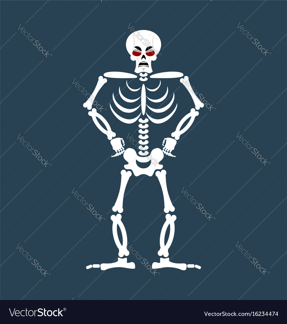 Skeleton angry emoji skull grumpy emotion