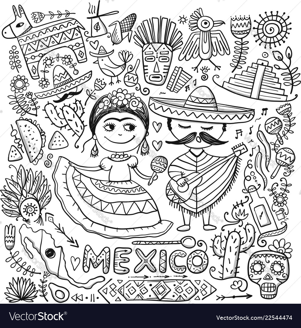 Travel to mexico sketch for your design