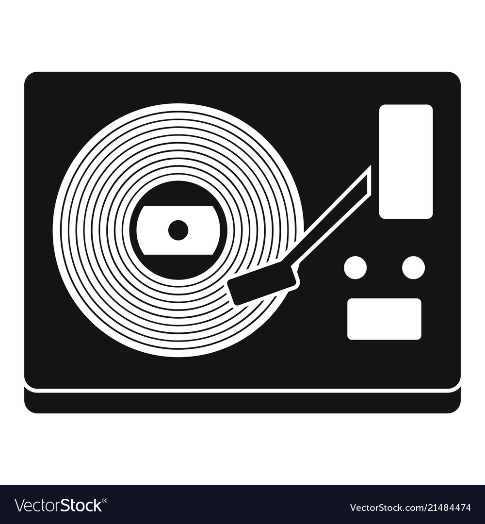 Vinyl player icon simple style