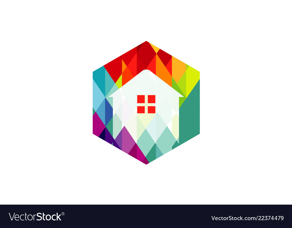 Abstract home color logo