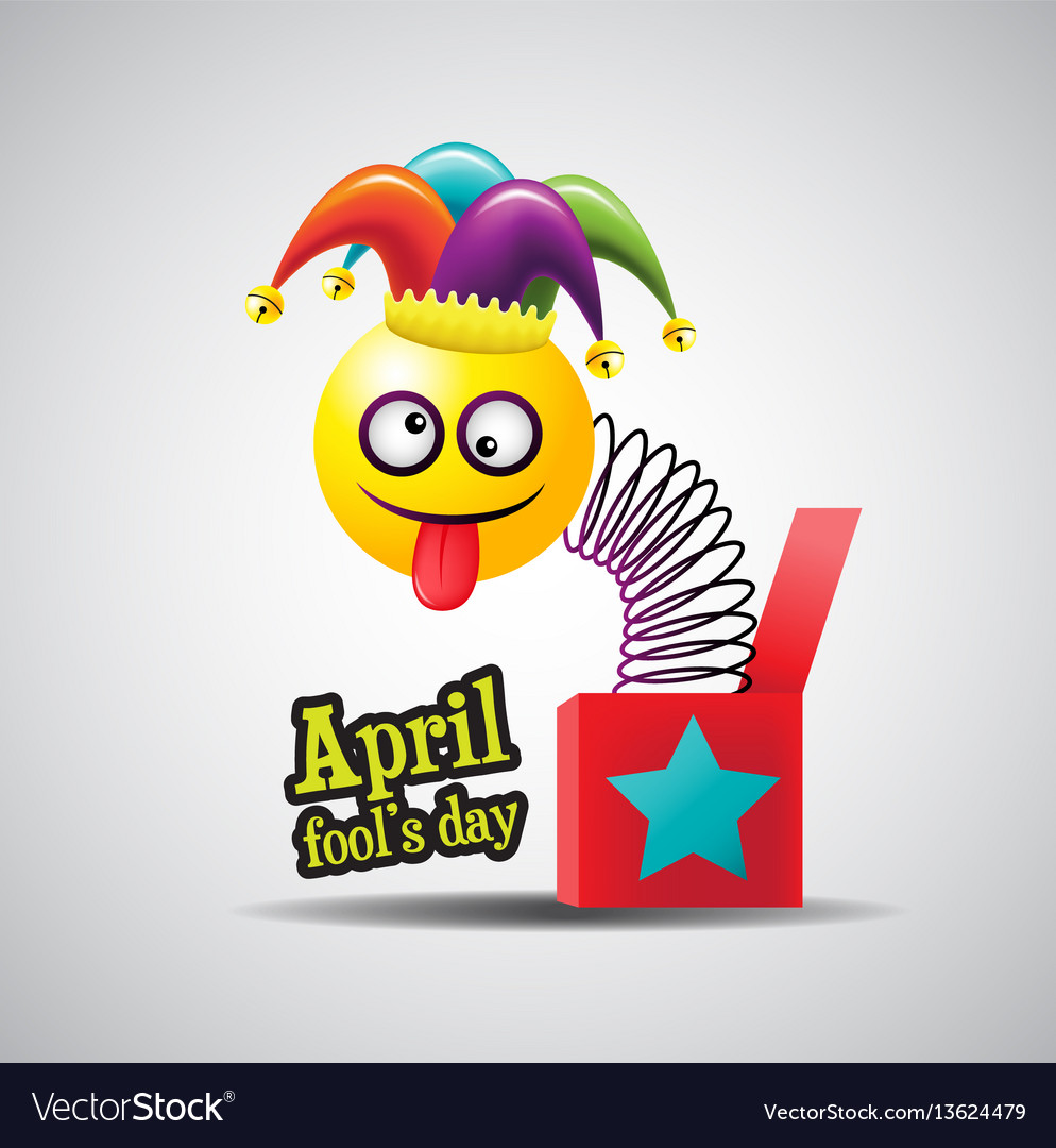 April fools day typography colorful