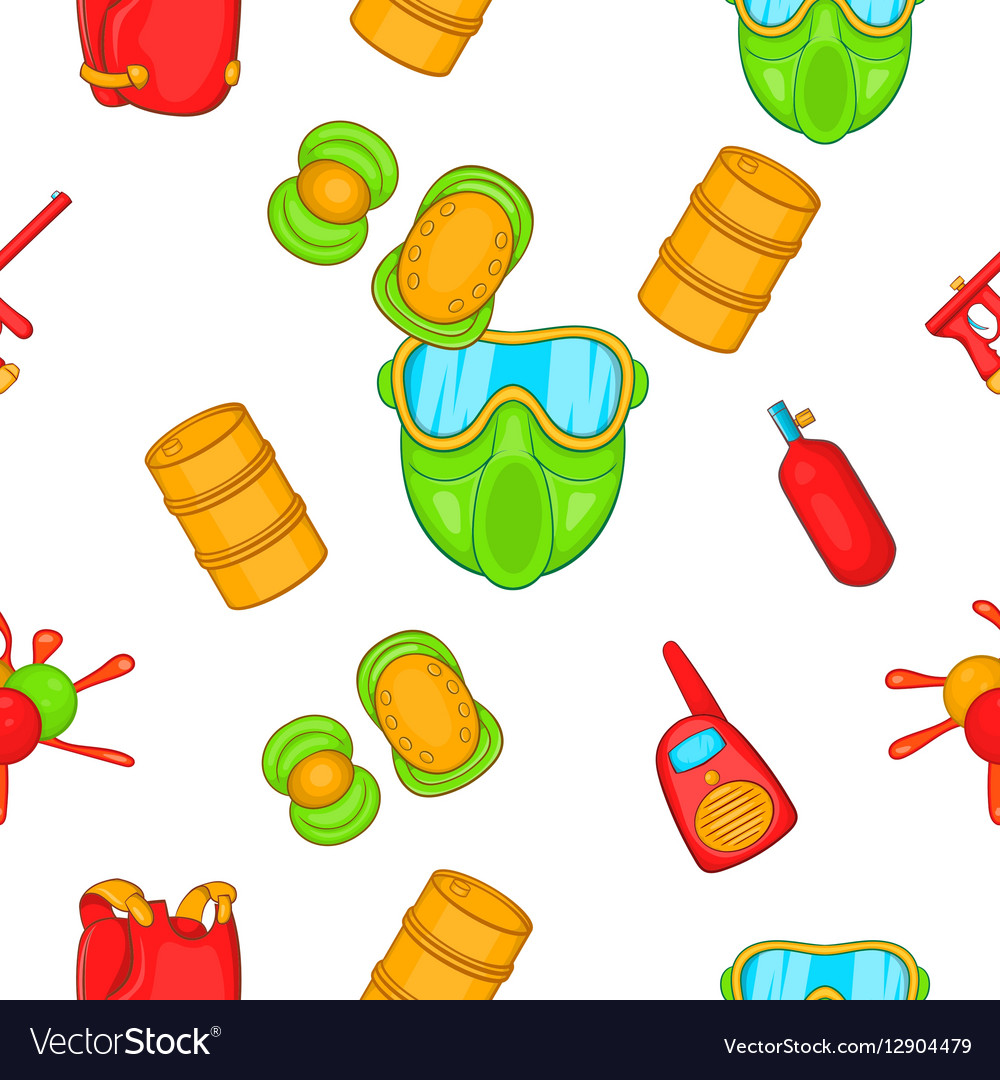 Competition paintball pattern cartoon style vector image