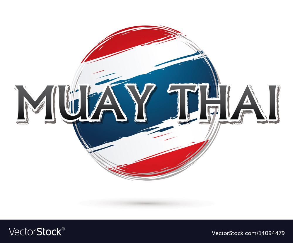 Muay thai font vector image