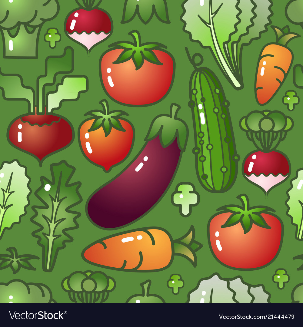 Vegetable isolated on green background