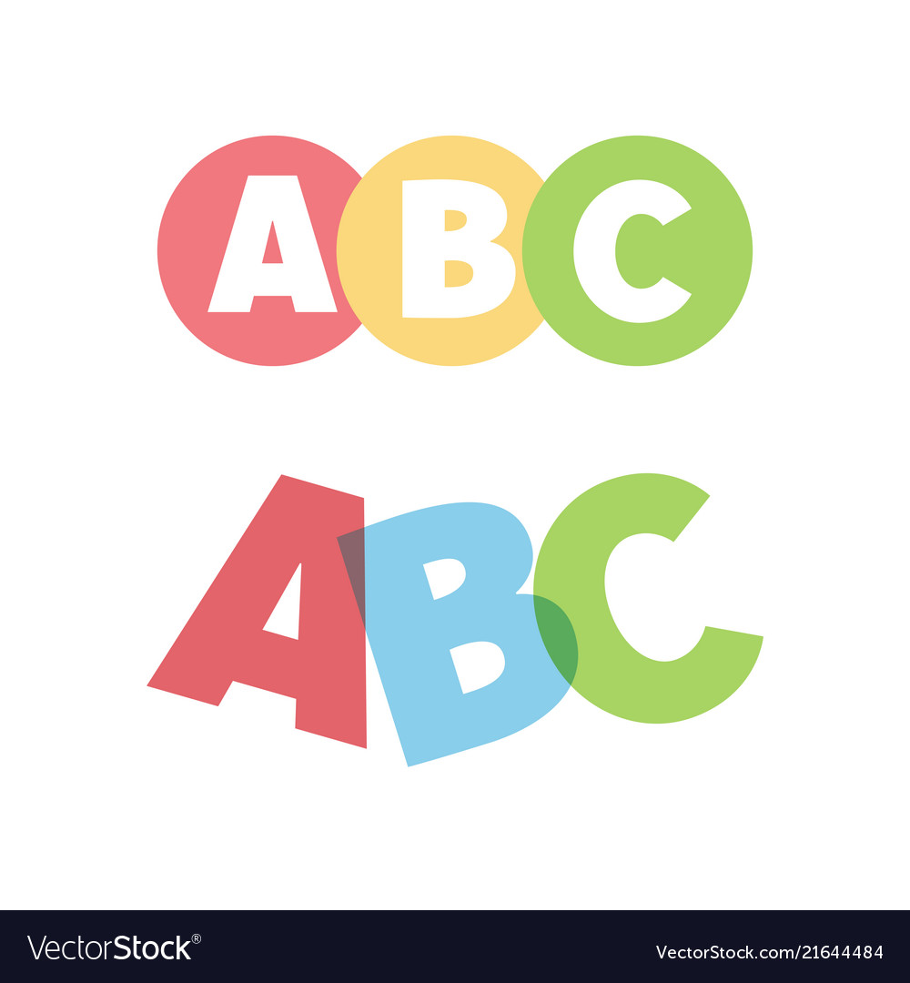 Abc letters icons
