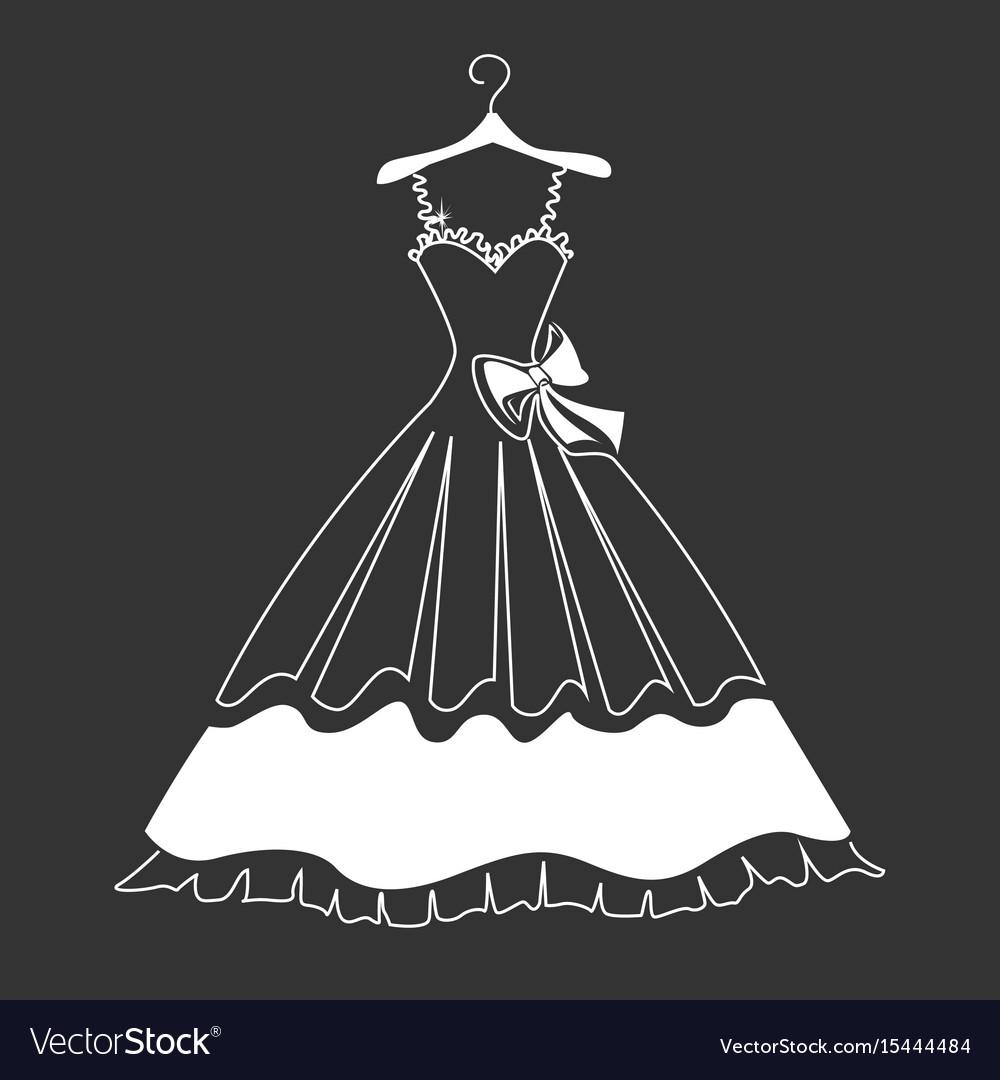 Beautiful dress silhouette
