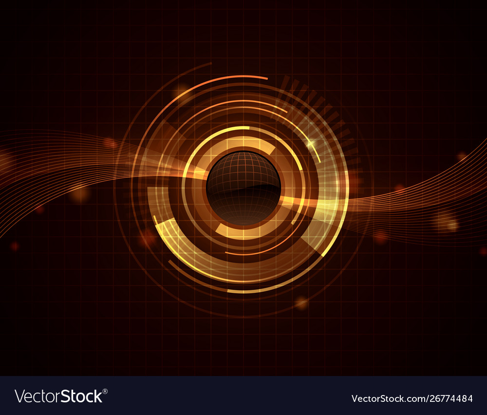 Golden Sphere Web Abstract Background Wallpaper