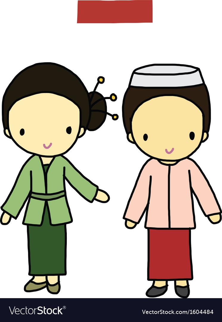Indonesia traditional costume