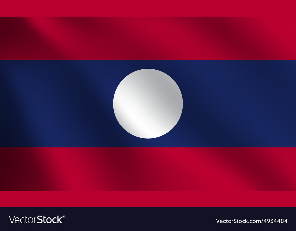 Laos flag vector image